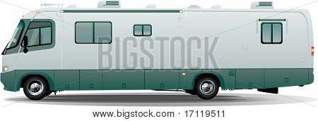 Rv camper in vector