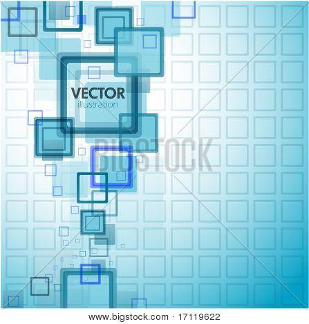 Fondo cuadrado abstracto azul