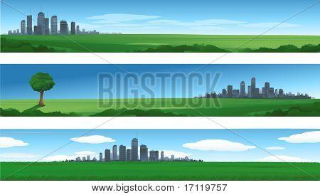 Natur-Stadtansicht-Hintergründe