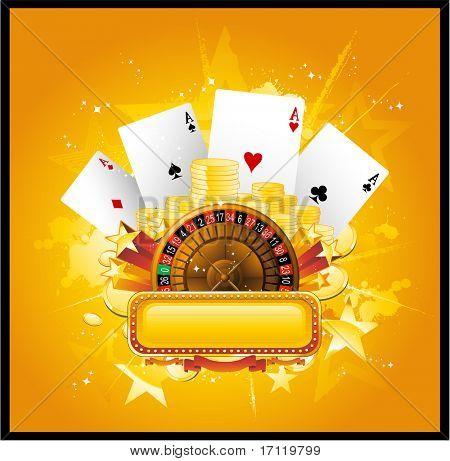 Vector casino background