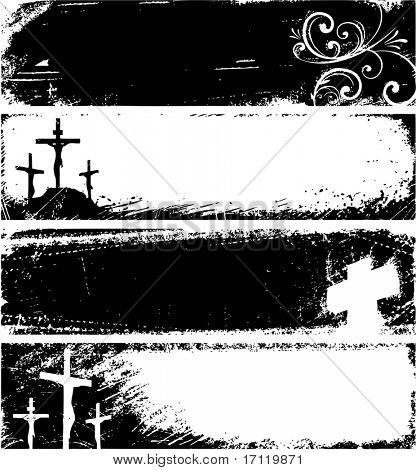 Grunge Christian banners