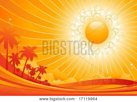 Hot summer background