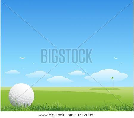 Fundo verde de golfe