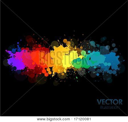 Colorful vector splats background