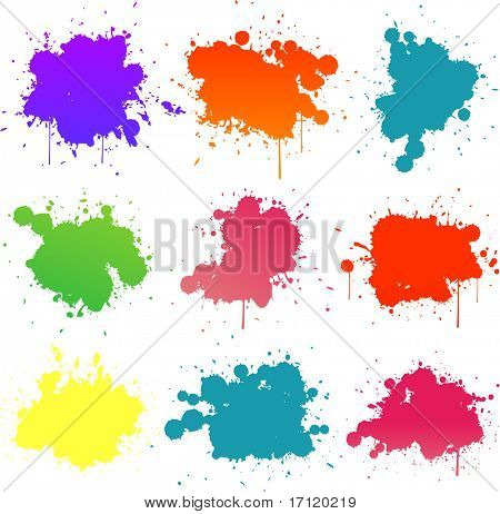 colorful paint splat