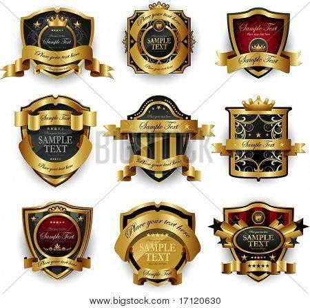 Decorative ornate golden frame