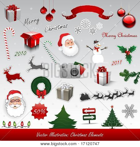 Christmas vector elements collection