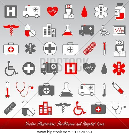Medical and healthcare vector icons