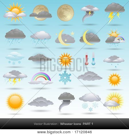Vektor Wetter Icons Sammlung