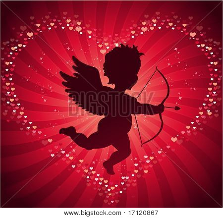 Valentine's day cupid background