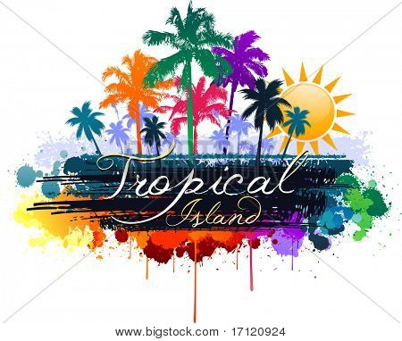 Abstract tropical summer design background