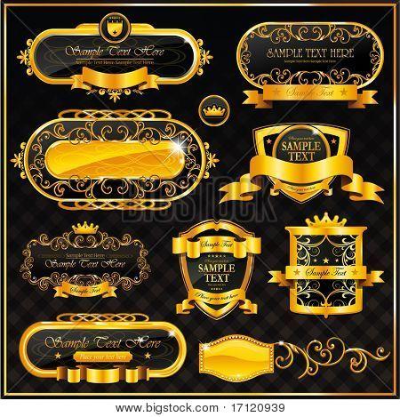 Vintage gold frame casino sign