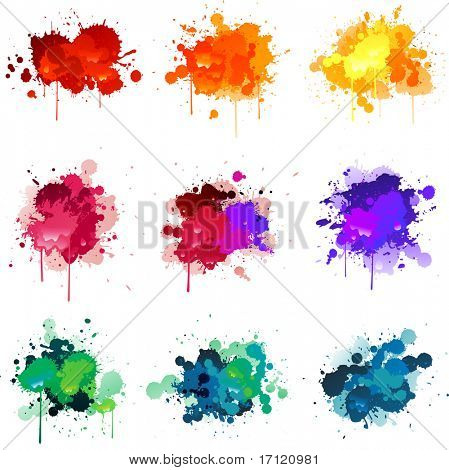 Vector paint splat