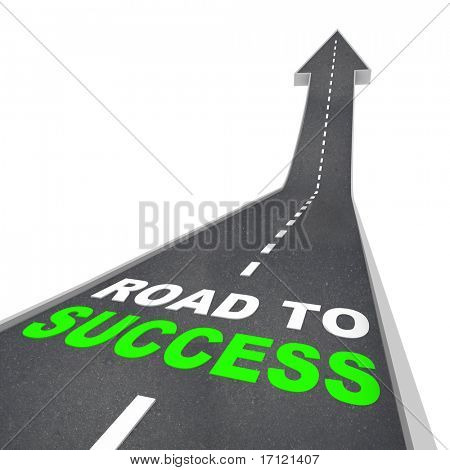 The Road to Success - Words on Arrow Going Up