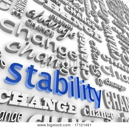 The word Stability surrounded Word Stability