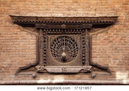 Peacock window, Nepal