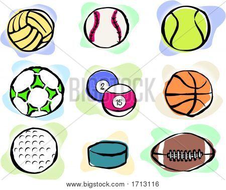 Editable Vector Sports Balls