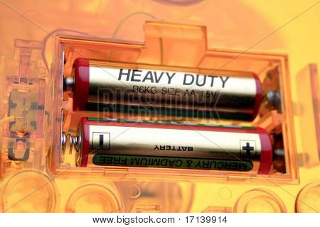 Two batteries in compartment