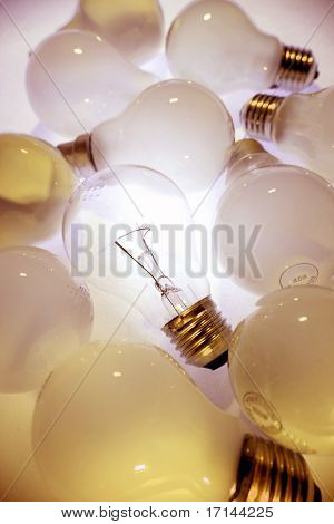 One bright light-bulb