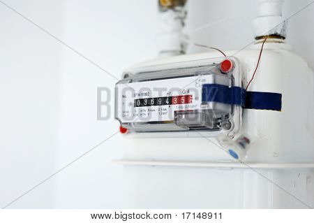 Gas Counter On Wall