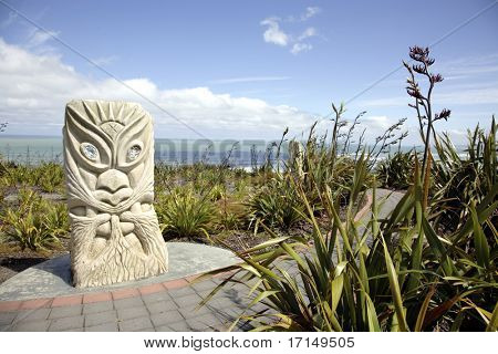 Rising Sun Tawhiri, Maori God of Wind and Storm, Raglan, New Zealand