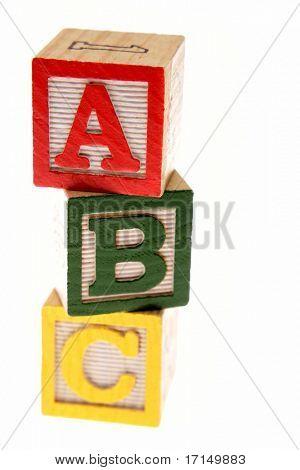 ABC learning blocks isolated over white