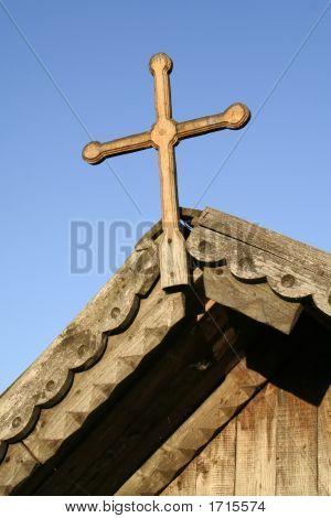 Facade Of Wooden Church