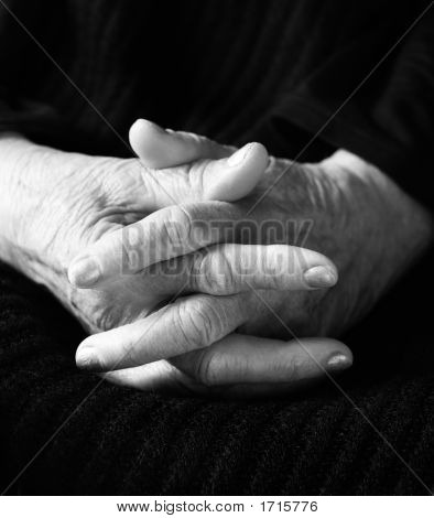 Hands Of Old Woman