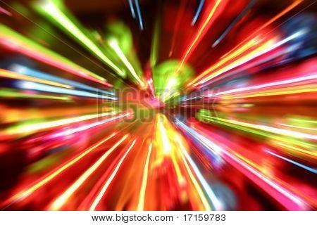Multiple lights blur background
