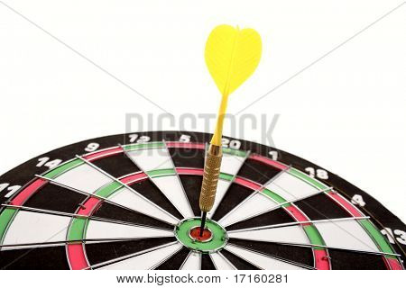 Dart in dartboard