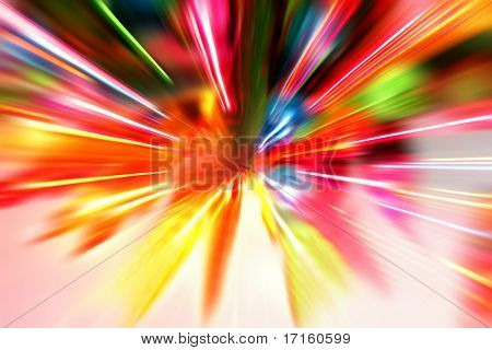 Multiple lights blur background