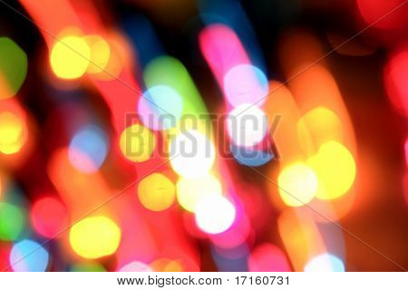 Multiple lights blurry background