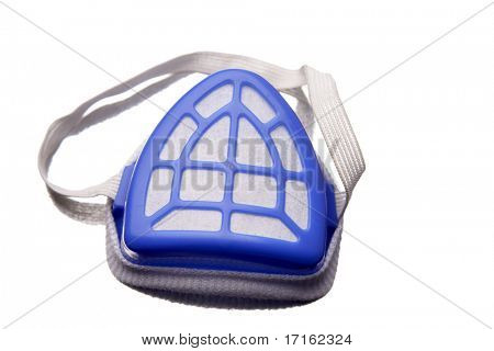 Face mask isolated over white