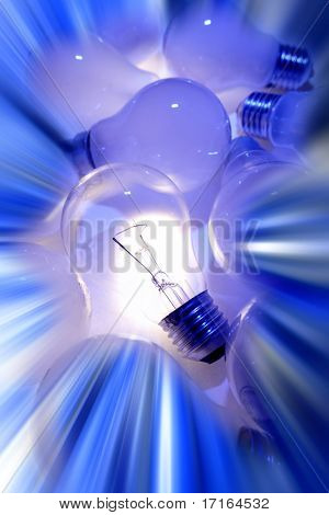 One bright light bulb