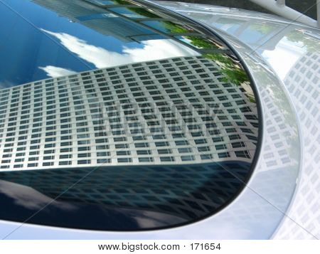 Reflection In Sports Car
