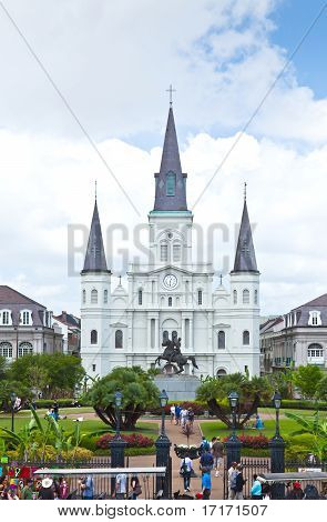 Scenery Around The Jackson Square In The French Quarter