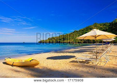 Sonnenstrand-Urlaubsziel