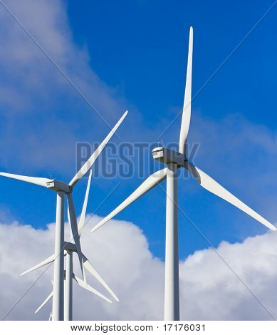 Windmills on Blue Sky, Alternative Energy