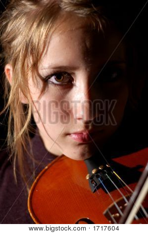 Violinist On Black (Series)