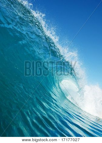 Blue Wave in Ocean