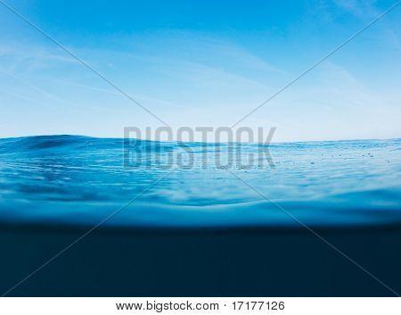 Blue Ocean Surface, schöne seelandschaft