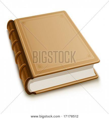 Altes Buch mit leere Cover - Vektor-illustration