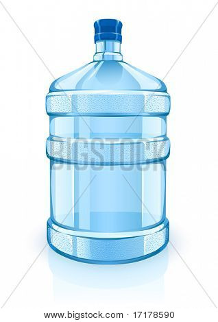 big bottle with clean blue water drink - vector illustration