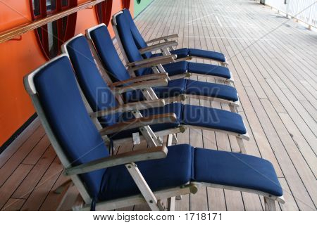 Deck Chairs On A Cruise