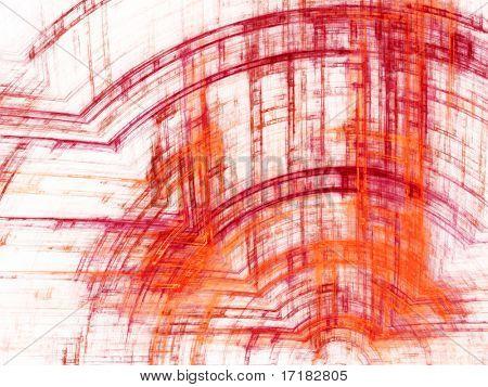 Abstrakt Design. In roten, grünen und blauen Farben weiß und schwarz erhältlich.