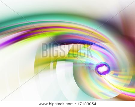 Media disk abstract design. Available on white and black background.