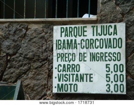 Park Entry Sign - Brazil