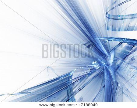 Composición 3d abstracto techno