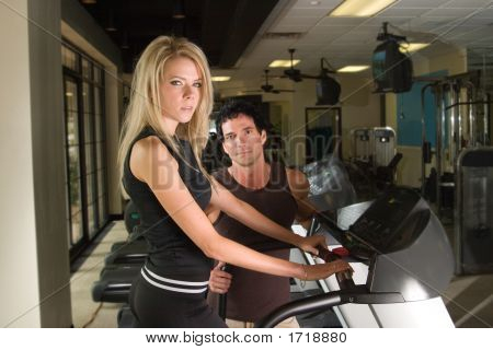 Man And Woman Exercising 4