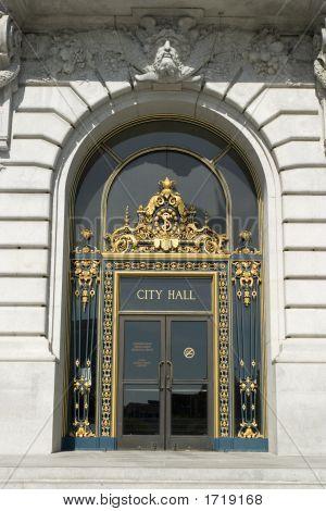 San Francisco'S City Hall Main Door